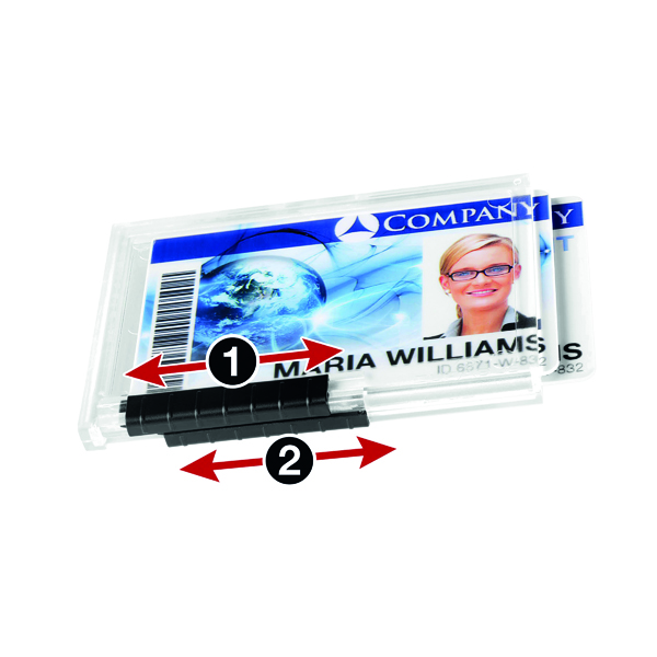 Durable Duo Pushbox Security Pass Holder Transparent (Pack of 10) 892119