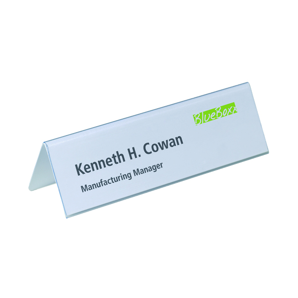 Durable Table Place Name Holder 61x210mm Transparent (Pack of 25) 8052/19