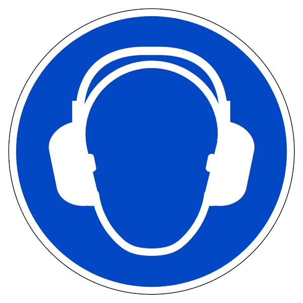 Durable Use Ear Protection Floor Sign 172906