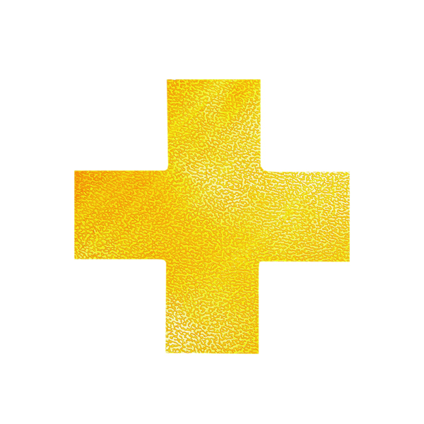 Image for Durable Floor Marking Shape Cross (Pack of 10) 170104 (1)