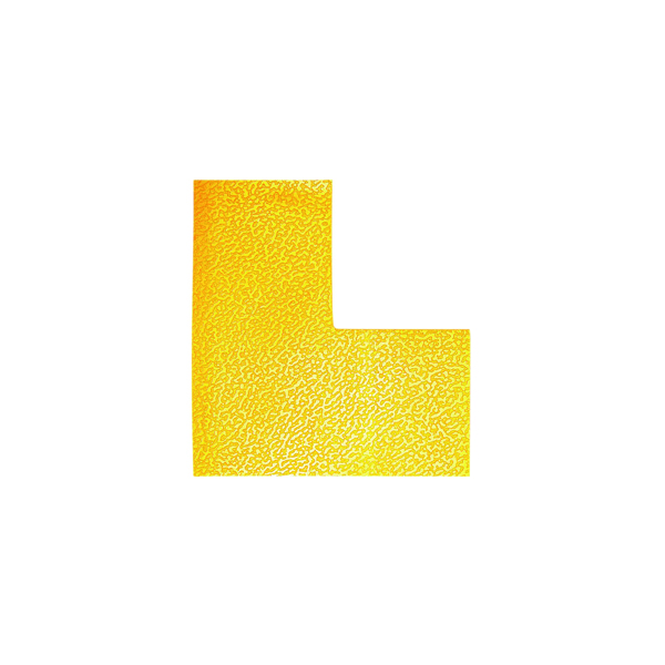 Durable Floor Marking Shape L, Yellow (Pack of 10) 170204