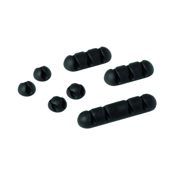 Durable Cavoline Cable Management Clip Mix Graphite 504137