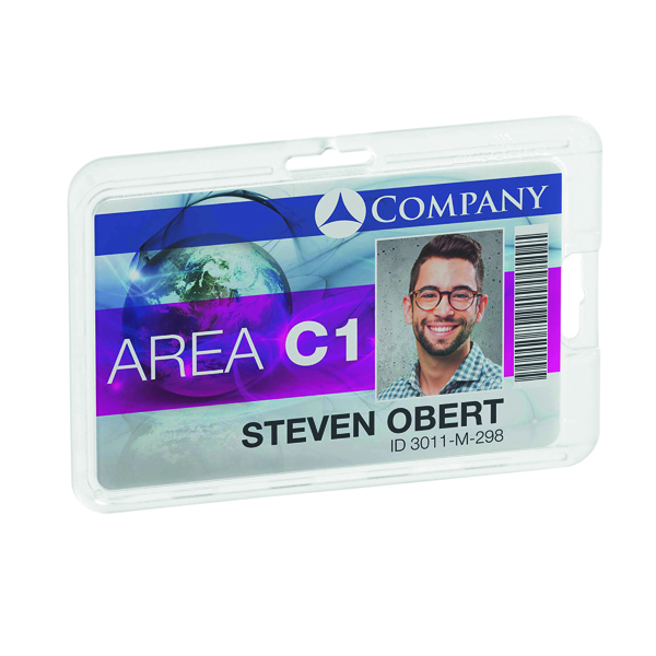 Durable Card Holder Permanent Transparent (Pack of 10) 8928
