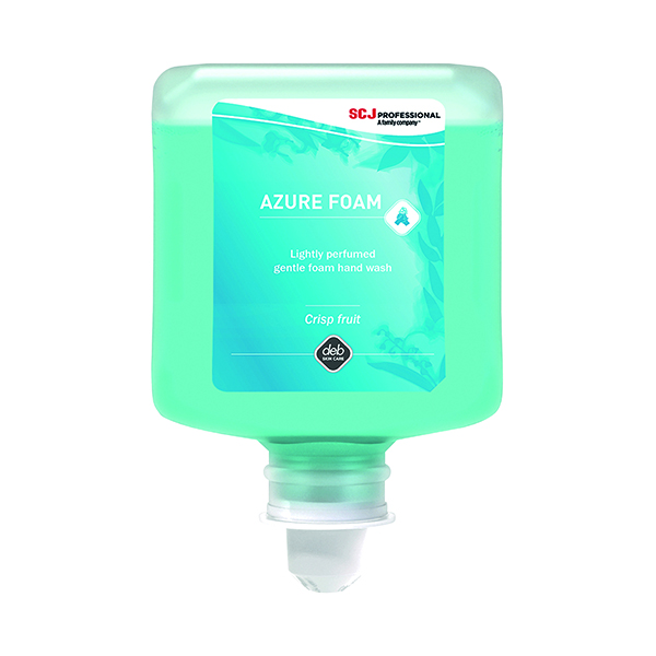 Deb Refresh Azure Foam Wash 1 Litre Cartridge (Pack of 6) AZU1L
