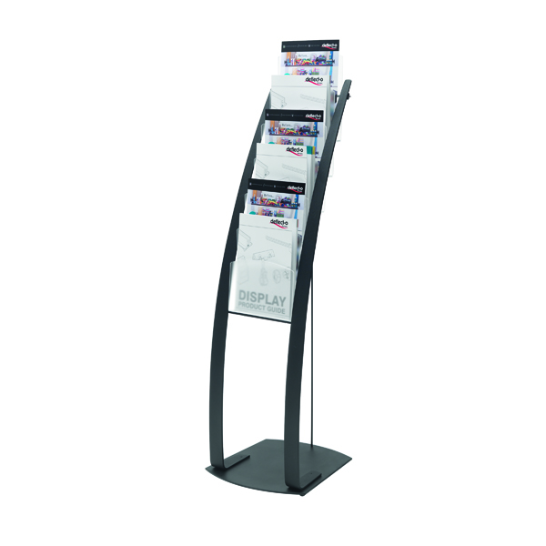 Deflecto Six Pocket Literature Floor Stand A4 Black 693104
