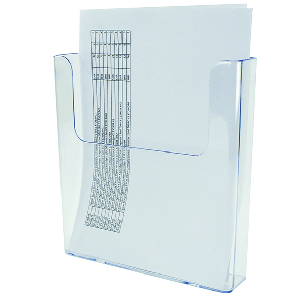 Deflecto Flat Back Literature Holder A4 DE76401