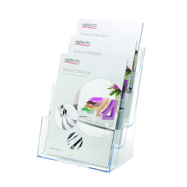 Deflecto 3 Tier Literature Holder A4 DE773YTCRY