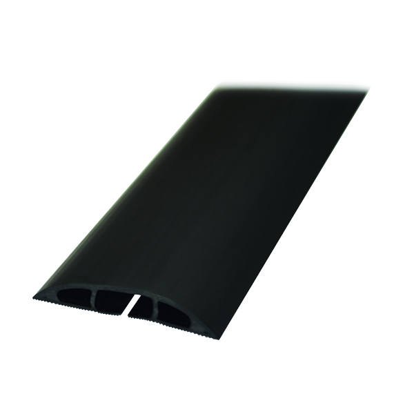 D-Line Black Light Duty Floor Cable Cover 60mmx1.8m Long CC-1