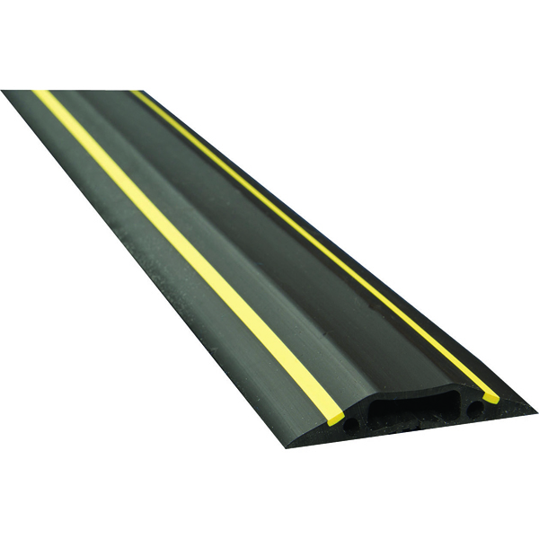 D-Line Black /Yellow Medium Hazard Duty Floor Cable Cover 9m FC83H/9M