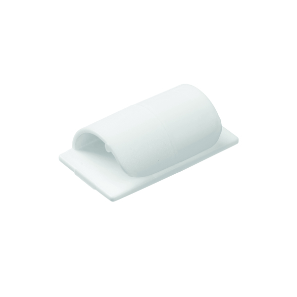Image for D-Line Cable Clips Self-Adhesive White (Pack of 20) CTC1P20PK
