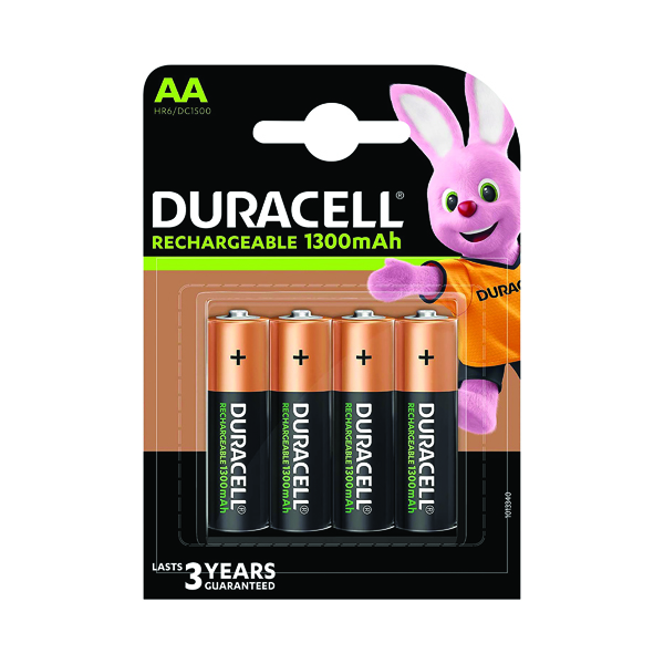 Duracell Rechargeable AA NiMH 2500mAh Batteries (Pack of 4) 81367177