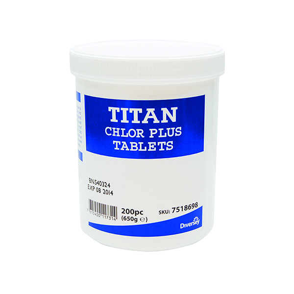 Titan Chlor Plus Chlorine Tabs (Pack of 200) 7518698