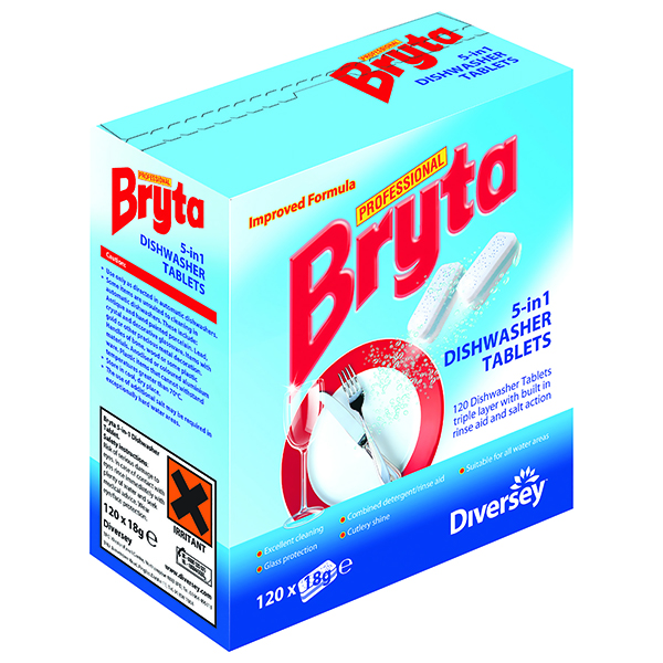 Bryta 5 in 1 Dishwasher Tabs 120pc (Pack of 4) 7519448