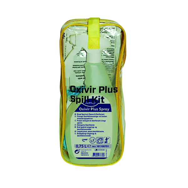 Diversey Oxivir Plus Body Spillage Kit (Includes gloves, mask, scraper, bio-hazard bag) 100840608