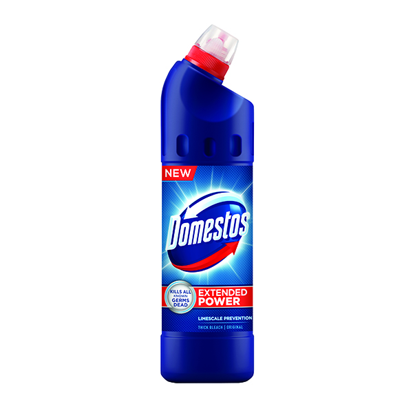9 x Domestos Thick Bleach 750ml (Concentrated thick liquid to kill germs) 100879718