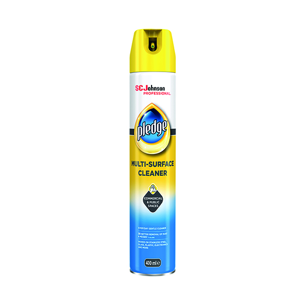 Pledge Multi Surface Cleaner 400ml Aerosol (Removes dirt, dust and smudges) 688174