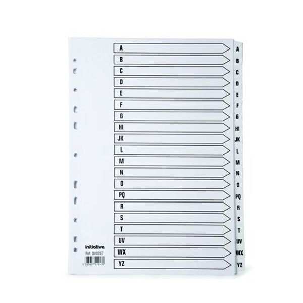 Initiative White Board A4 160gsm Divider A-Z Mylar Tab