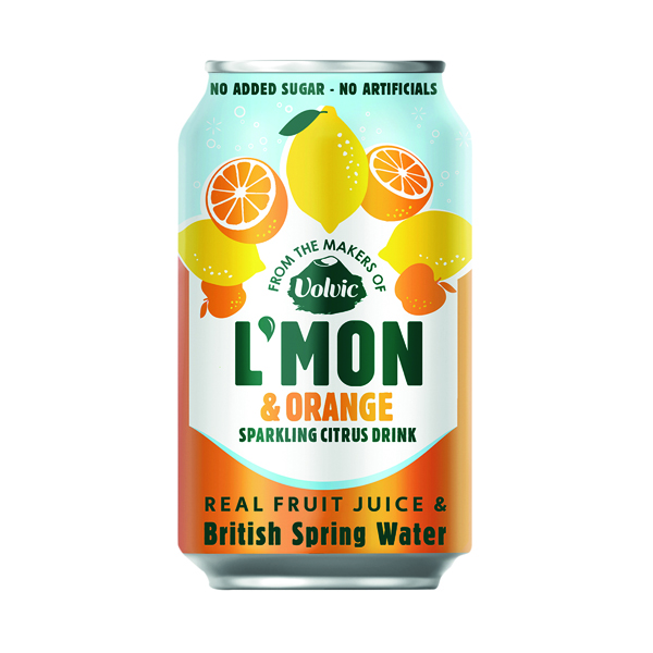 Volvic L'Mon Sparkling Lemon and Orange 330ml (Pack of 12) 145921