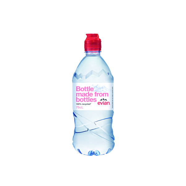Evian Natural Mineral Water 75cl Bottle (Pack of 12) 60735