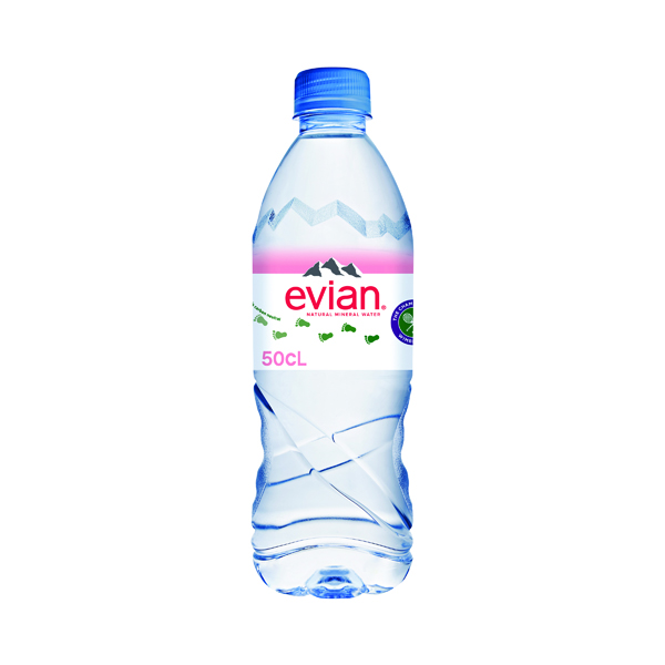 Evian Natural Spring Water 500ml (Pack of 24) A0103912