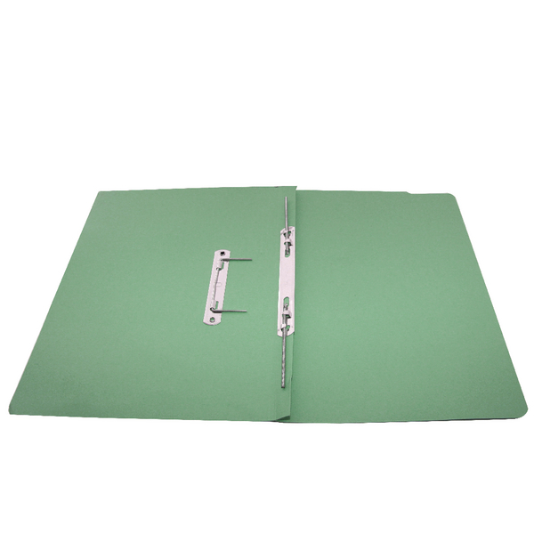 Rexel Jiffex Transfer File Foolscap Green (Pack of 50) 43212EAST