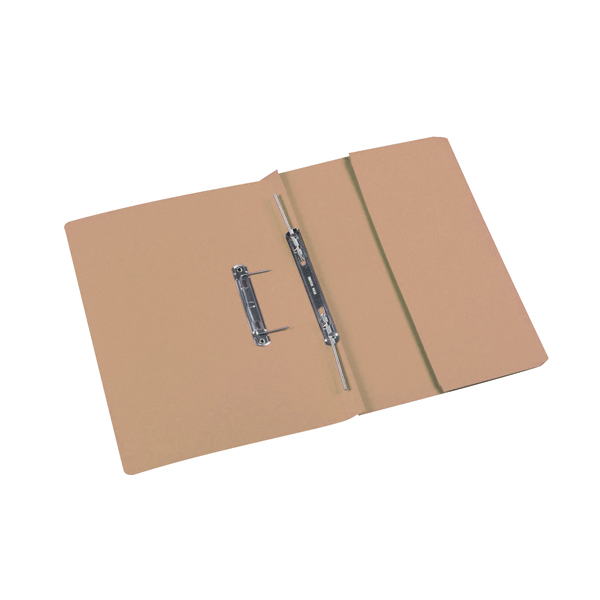 Rexel Jiffex Pocket Transfer File Foolscap Buff (Pack of 25) 43312EAST