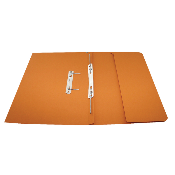 Rexel Jiffex Pocket Transfer File Foolscap Orange(Pack of 25)43316EAST