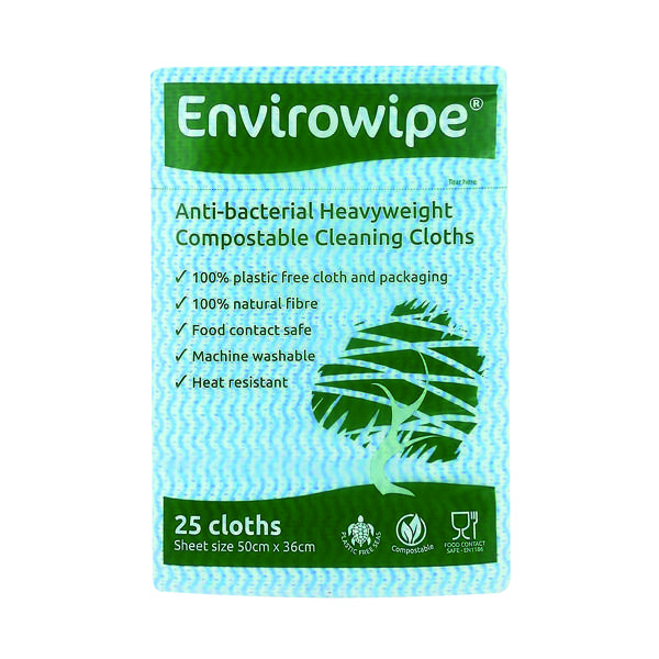 Envirowipe Antibacterial Cleaning Cloths 500x360mm Blue (Pack of 25) EWF150