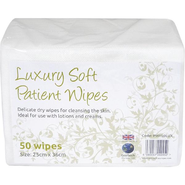 EcoTech Luxury Soft Patient Wipes 50 Sheets PWF2000LUX