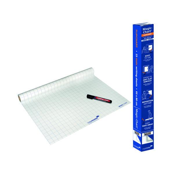 Legamaster Magic Chart Gridded Roll White 600x800mm 1590-00