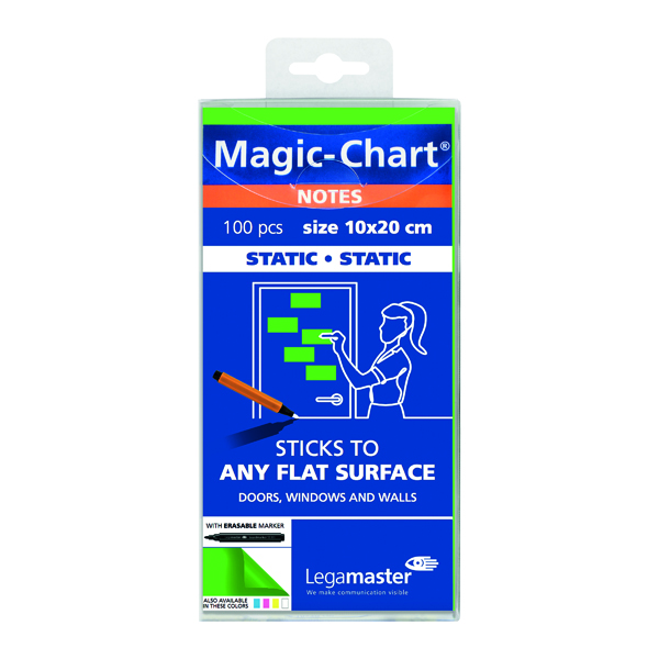 Legamaster Magic Notes 20X10cm Green (Pack of 100) 7-159404