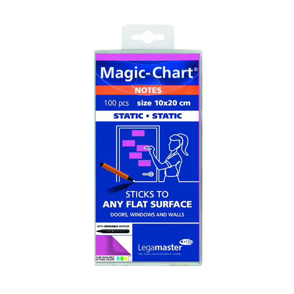Legamaster Magic Notes 200x100mm Pink with Pen (Pack of 100) 7-159409