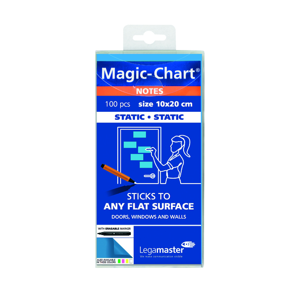Legamaster Magic Notes 20X10cm Blue (Pack of 100) 7-159410