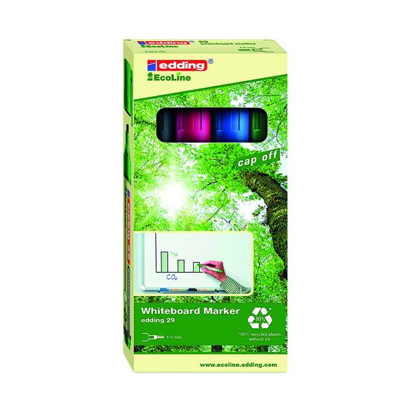 Edding 28 Ecoline Whiteboard Marker Bullet Tip (Pack of 4) 4-28-4