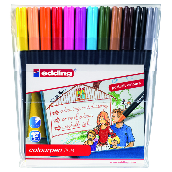 Edding Colour Pen Fine (Pack of 12) 1421999