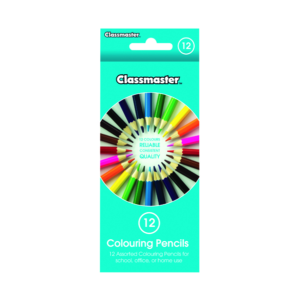 Image for Classmaster Colouring Pencils Assorted (Pack of 12) CPW12
