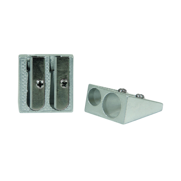 Classmaster Double Hole Pencil Sharpener Metal (Pack of 25) PSM225