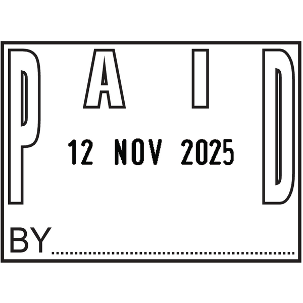 COLOP P700 Date Stamp Paid (Impression Size: 45 x 34mm) P700PAID