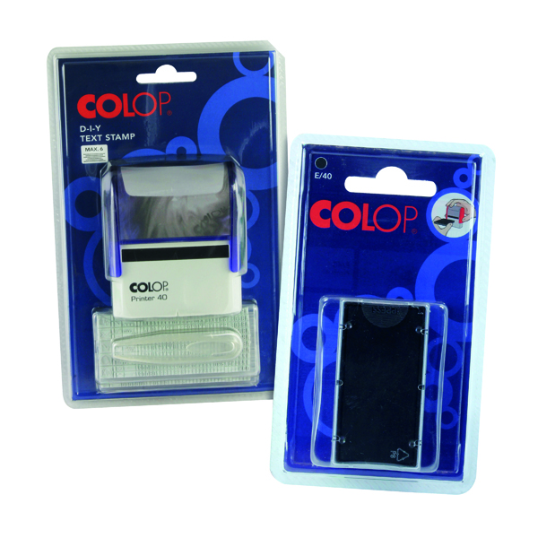 COLOP Printer Set Plus Free of Charge 2 Pack Ink Pads