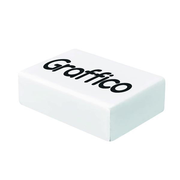 Graffico Plastic Eraser White (Pack of 45)
