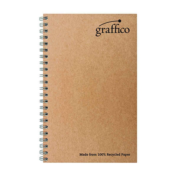 Graffico Recycled Wirebound Notebook 160Pg A5 (Pack of 10)