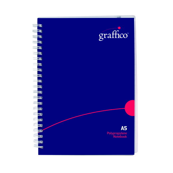 Graffico Hard Cover Wirebound Notebook 160 Pages A5 500-0511