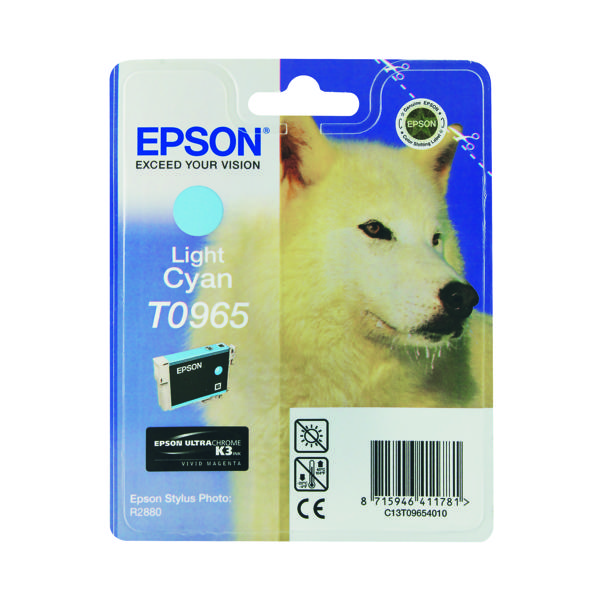 Epson T0965 Light Cyan Inkjet Cartridge C13T09654010 / T0965