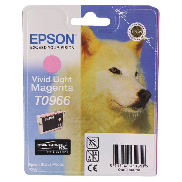 Epson T0966 Light Magenta Inkjet Cartridge C13T09664010 / T0966