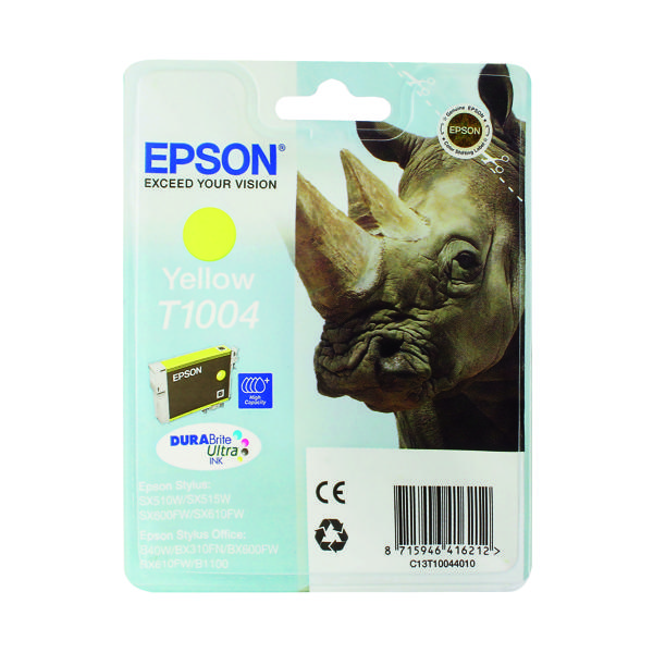 Epson T1004 Yellow Ink Cartridge C13T10044010 / T1004