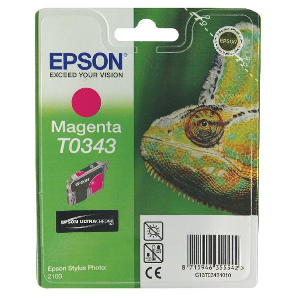 Epson T0343 Magenta Inkjet Cartridge C13T03434010 / T0343