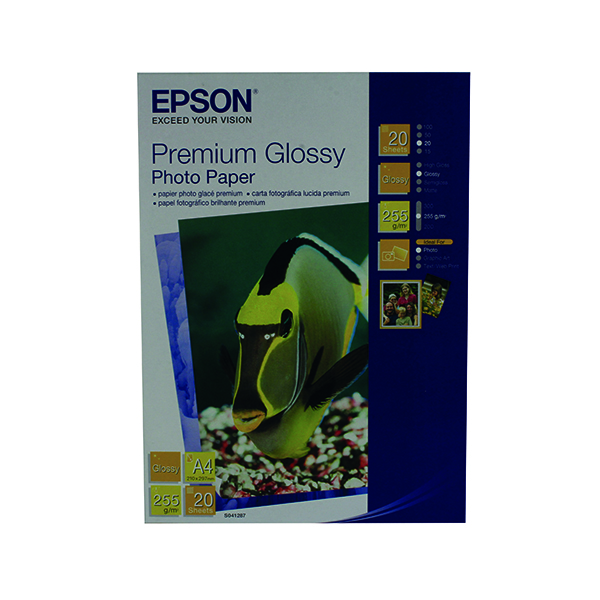 Epson Premium Glossy Photo A4 Paper (Pack of 20) C13S041287