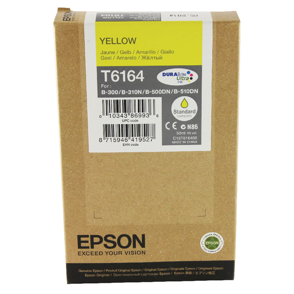 Epson B-500DN Standard Capacity Inkjet Cartridge Yellow C13T616400