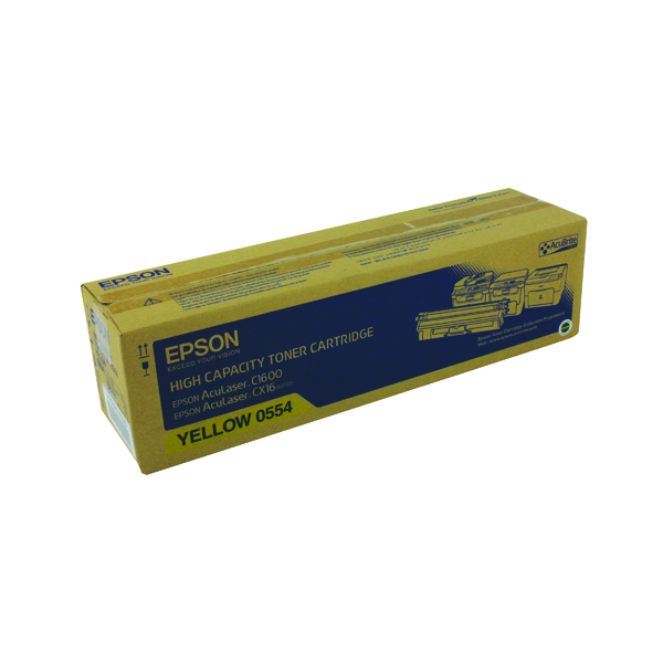 Epson AcuLaser C1600/CX16 High Capacity 2.7K Yellow Toner Cartridge C13S050554