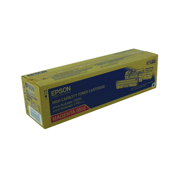 Epson AcuLaser C1600/CX16 High Capacity 2.7K Magenta Toner Cartridge C13S050555
